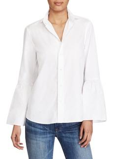 Ralph Lauren: Polo Bell-Sleeve Cotton Broadcloth Shirt