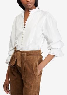 Ralph Lauren: Polo Polo Ralph Lauren Broadcloth Cotton Top