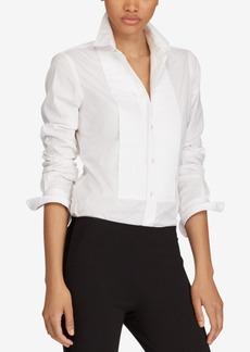 Ralph Lauren: Polo Polo Ralph Lauren Broadcloth Cotton Tuxedo Shirt