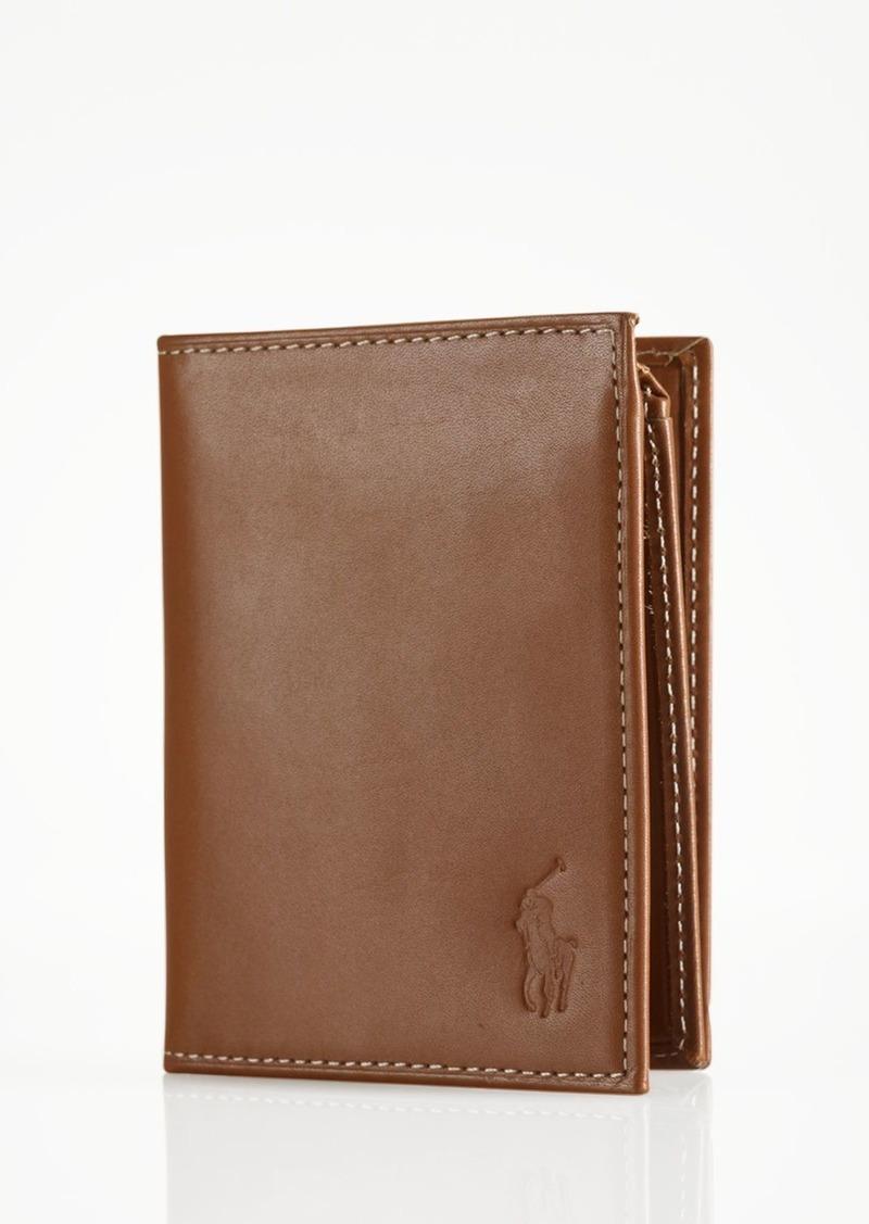 Ralph Lauren Polo Polo Ralph Lauren Burnished Leather Window Billfold Wallet
