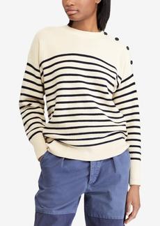 Ralph Lauren: Polo Polo Ralph Lauren Button-Shoulder Wool Sweater