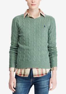 Ralph Lauren: Polo Polo Ralph Lauren Cable Crew-Neck Wool/Cashmere Blend Sweater