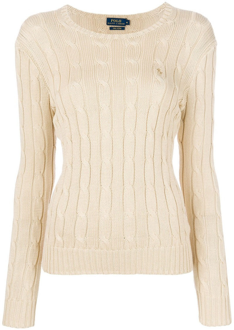 Ralph Lauren Polo Polo Ralph Lauren Cable Knit Sweater Nude