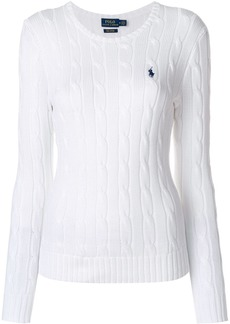 Ralph Lauren: Polo Polo Ralph Lauren cable knit sweater - White