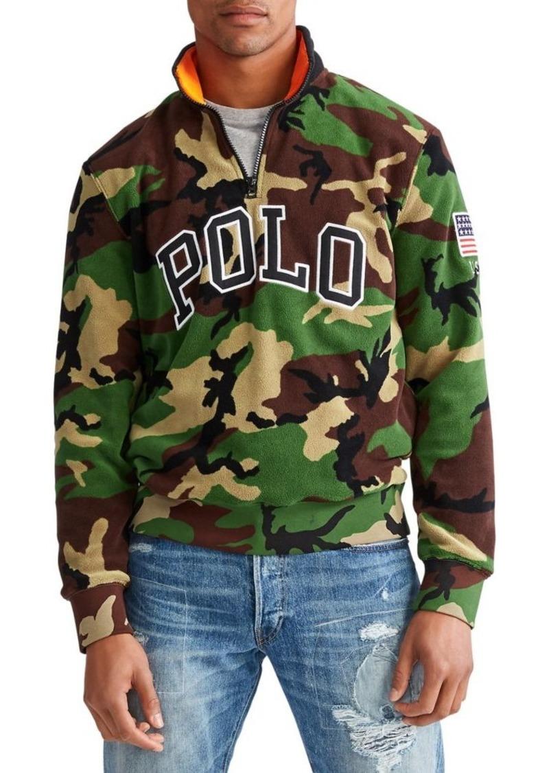 Ralph Lauren Polo Polo Ralph Lauren Camouflage Half-Zip Fleece Sweatshirt
