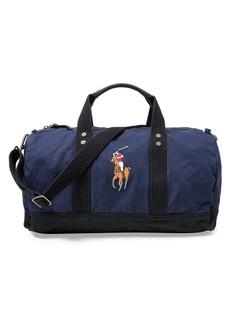 Ralph Lauren: Polo Polo Ralph Lauren Canvas Big Pony Duffel Bag
