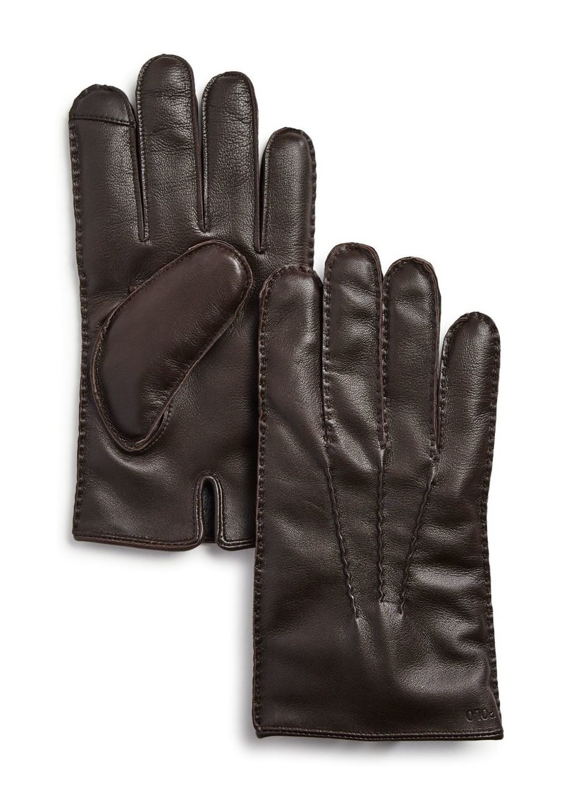 Ralph Lauren Polo Polo Ralph Lauren Cashmere-Lined Leather Gloves