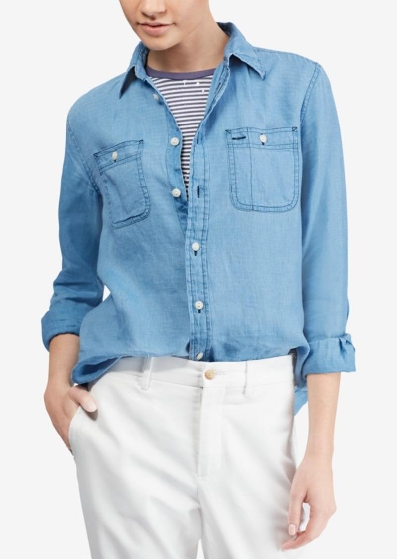 3d76e830c Ralph Lauren: Polo Polo Ralph Lauren Chambray Linen Shirt | Casual ...