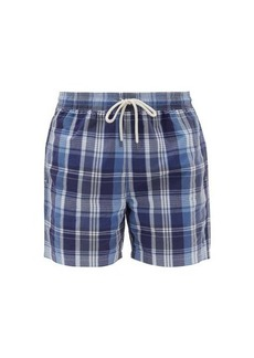 Ralph Lauren Polo Polo Ralph Lauren Checked cotton-blend swim shorts