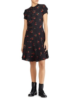 Ralph Lauren: Polo Polo Ralph Lauren Cherry-Print Crepe Dress