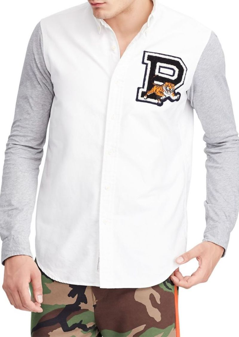1921a694 Ralph Lauren Polo Polo Ralph Lauren Classic-Fit Jersey-Sleeve Oxford Shirt
