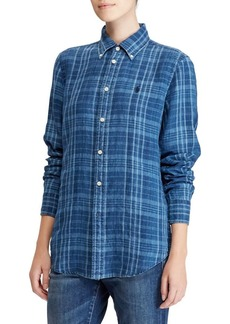 Ralph Lauren: Polo Polo Ralph Lauren Classic-Fit Plaid Linen Button Down Shirt