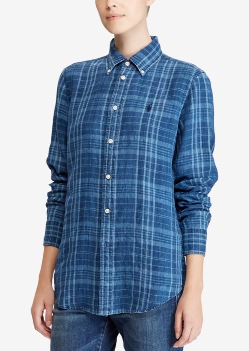feb7cd0c Polo Ralph Lauren Classic-Fit Plaid Linen Shirt