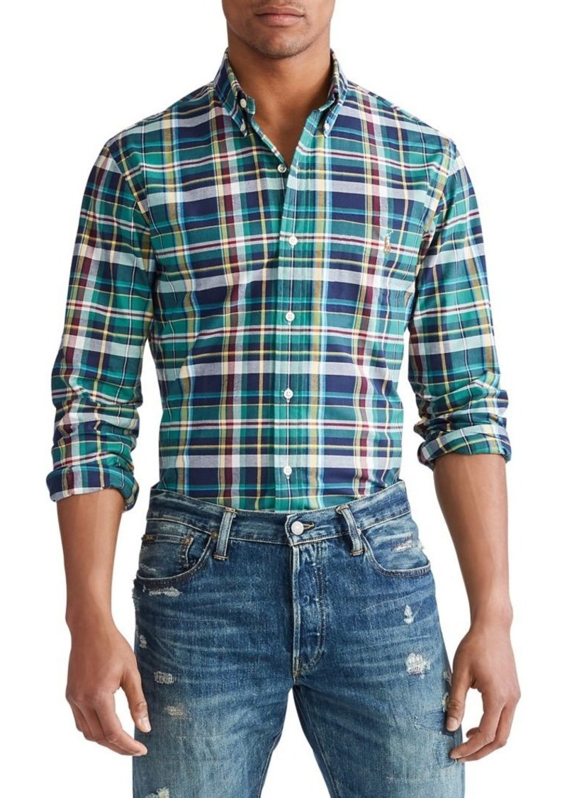 Ralph Lauren Polo Polo Ralph Lauren Classic-Fit Plaid Oxford Shirt