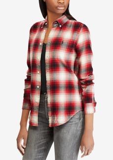 Ralph Lauren: Polo Polo Ralph Lauren Classic Fit Plaid Twill Cotton Shirt