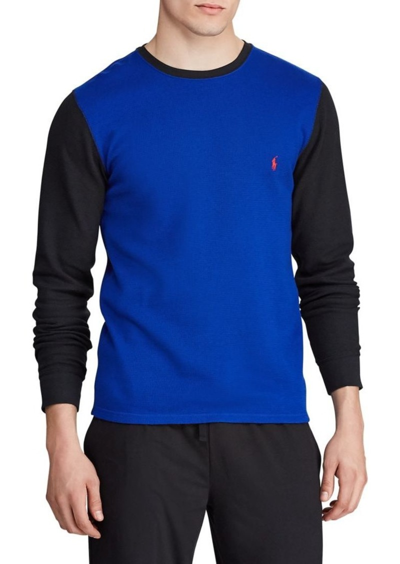 Ralph Lauren Polo Polo Ralph Lauren Colorblock Cotton-Blend Sleep Top