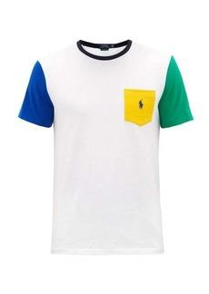 Ralph Lauren Polo Polo Ralph Lauren Colour-blocked cotton-jersey T-shirt