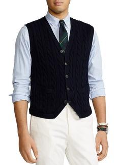 Ralph Lauren Polo Polo Ralph Lauren Cotton & Cashmere Sweater Vest