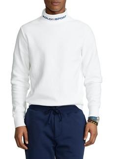 Ralph Lauren Polo Polo Ralph Lauren Cotton Blend Fleece Mock Neck Shirt