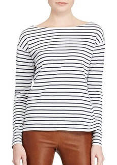 Ralph Lauren: Polo Polo Ralph Lauren Cotton Boatneck Long-Sleeve Top