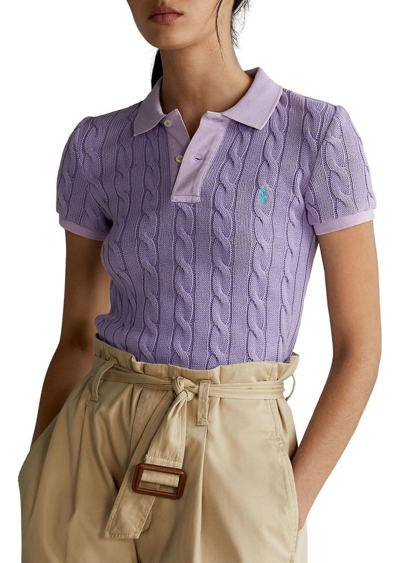 Polo Ralph Lauren Cotton Cable Knit Polo Shirt