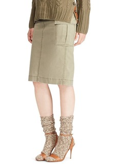 Ralph Lauren: Polo Polo Ralph Lauren Cotton Cargo Skirt
