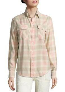 Ralph Lauren: Polo Polo Ralph Lauren Cotton Flannel Plaid Shirt