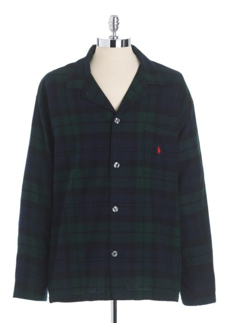 Ralph Lauren Polo Polo Ralph Lauren Plaid Cotton Flannel Pajama Shirt