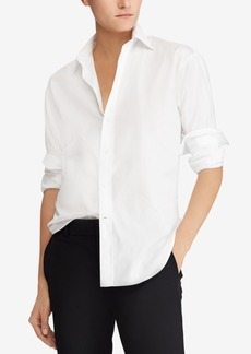 Ralph Lauren: Polo Polo Ralph Lauren Cotton Lace-Up Back Boyfriend Shirt