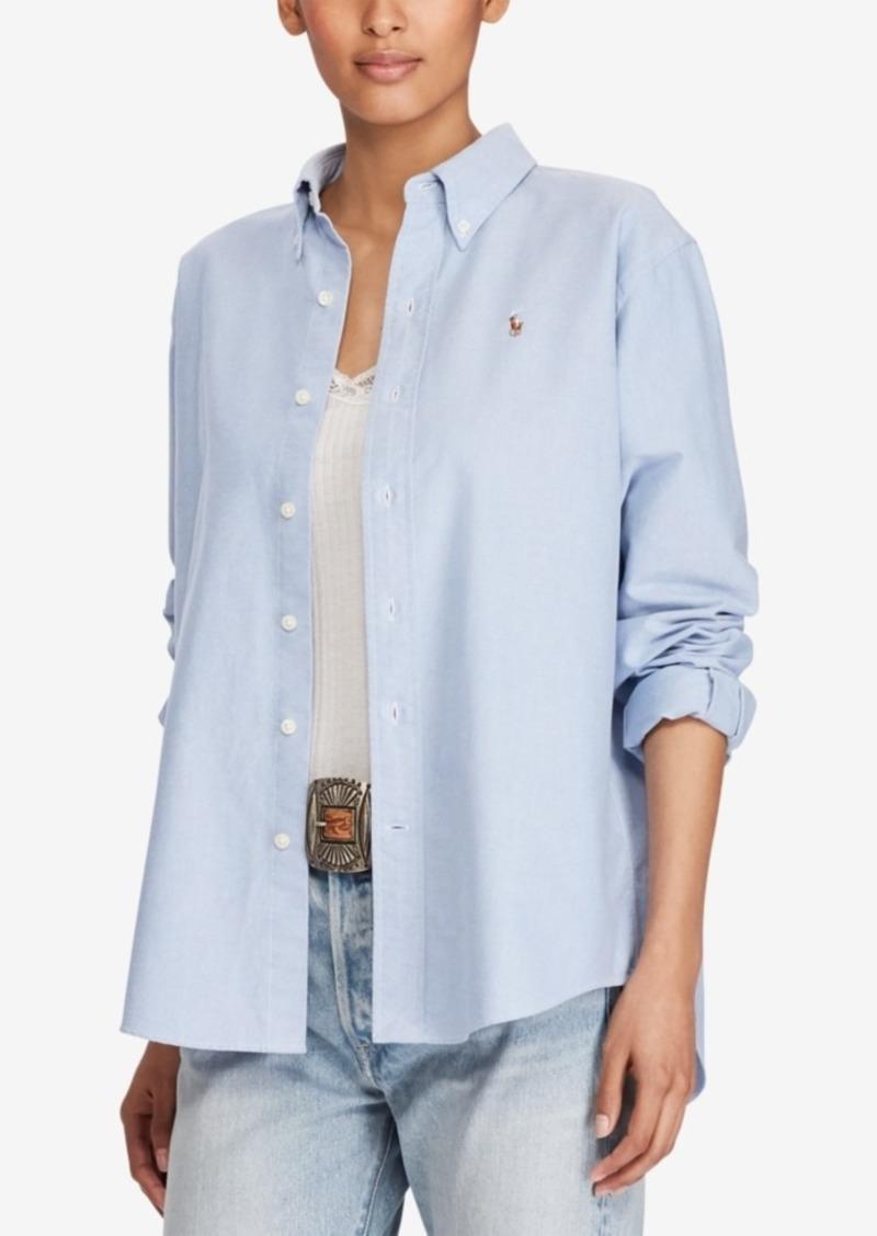 Polo Oxford Cotton Lauren Ralph Big Shirt PkwNnX80O