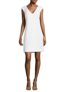 Polo Ralph Lauren Crepe V-Neck Shift Dress