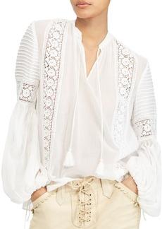 Ralph Lauren: Polo Crinkled Silk Blouse
