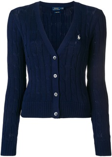 Ralph Lauren: Polo Polo Ralph Lauren cropped cable knit cardigan - Blue