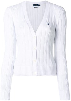 Ralph Lauren: Polo Polo Ralph Lauren cropped cable knit cardigan - White