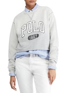 Ralph Lauren: Polo Cropped Graphic Sweatshirt