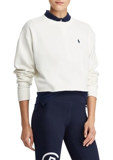 Ralph Lauren: Polo Cropped Knit Sweatshirt