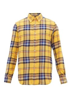 Ralph Lauren Polo Polo Ralph Lauren Custom-fit checked cotton-twill shirt