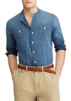 Ralph Lauren Polo Polo Ralph Lauren Dotted Band Collar Classic Fit Button-Down Shirt