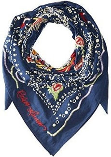 Ralph Lauren: Polo Polo Ralph Lauren Dragon Embroidered Cotton Bandana Scarf