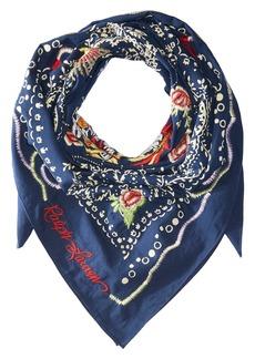 Ralph Lauren: Polo Dragon Embroidered Cotton Bandana Scarf