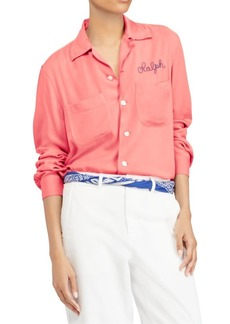 Ralph Lauren: Polo Embroidered Button-Front Shirt