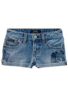 Ralph Lauren: Polo Polo Ralph Lauren Embroidered Cotton Shorts, Little Girls