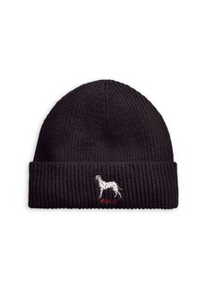 Ralph Lauren Polo Polo Ralph Lauren Embroidered Rib-Knit Beanie