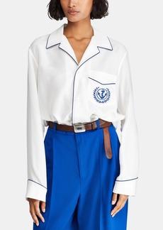 Ralph Lauren: Polo Polo Ralph Lauren Embroidered Silk Shirt