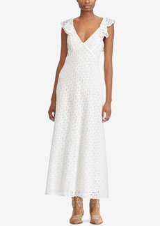 Ralph Lauren: Polo Polo Ralph Lauren Eyelet Open-Back Cotton Dress