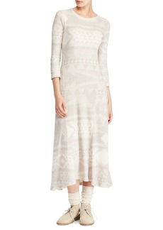 Ralph Lauren: Polo Polo Ralph Lauren Fairisle Midi Dress