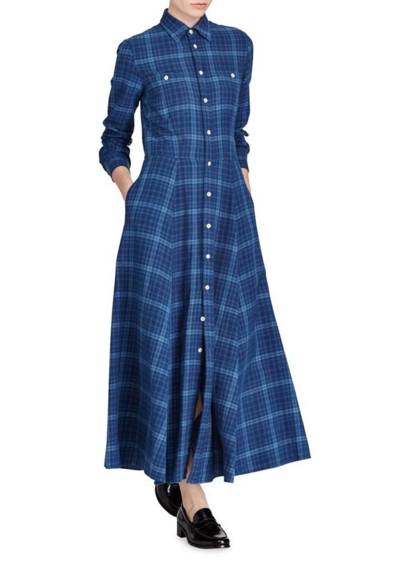 3020027cc469 Ralph Lauren  Polo Polo Ralph Lauren Fit-and-Flare Plaid Cotton Shirtdress