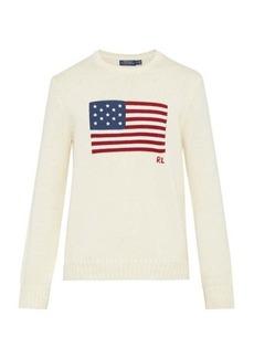 Ralph Lauren Polo Polo Ralph Lauren Flag-intarsia knitted cotton sweater