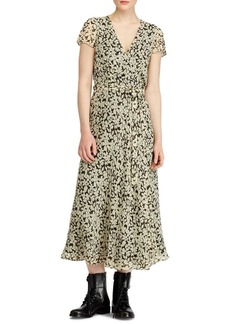 Ralph Lauren: Polo Polo Ralph Lauren Floral Crepe Wrap Dress