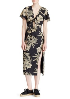 Ralph Lauren: Polo Polo Ralph Lauren Floral Faux-Wrap Dress